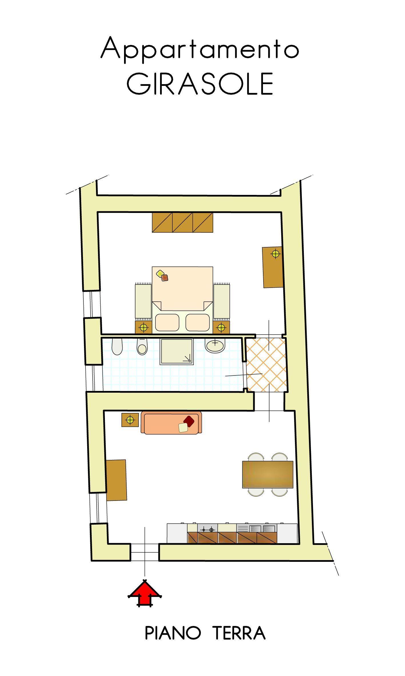 Appartamento bilocale piano terra posti letto 4 in 1 for Software di progettazione domestica di piano terra